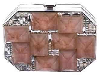 Judith Leiber Crystal-Embellished Octagon Minaudière