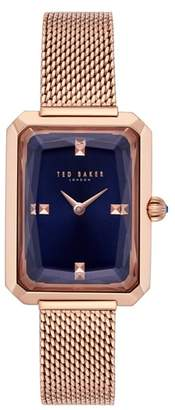 Ted Baker Cara Mesh Strap Watch, 22mm