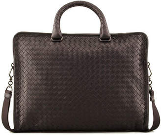 Bottega Veneta Soft Slim Woven Briefcase
