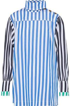 Sonia Rykiel Paneled Striped Cotton-Poplin Top