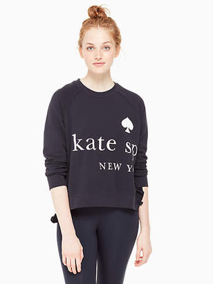 Kate Spade Logo ruffle pullover