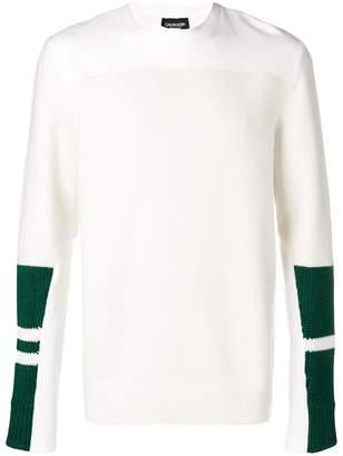 Calvin Klein knit panel sleeve sweatshirt