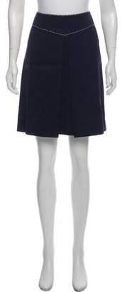 Tory Burch Pleated Knee-Length Skirt