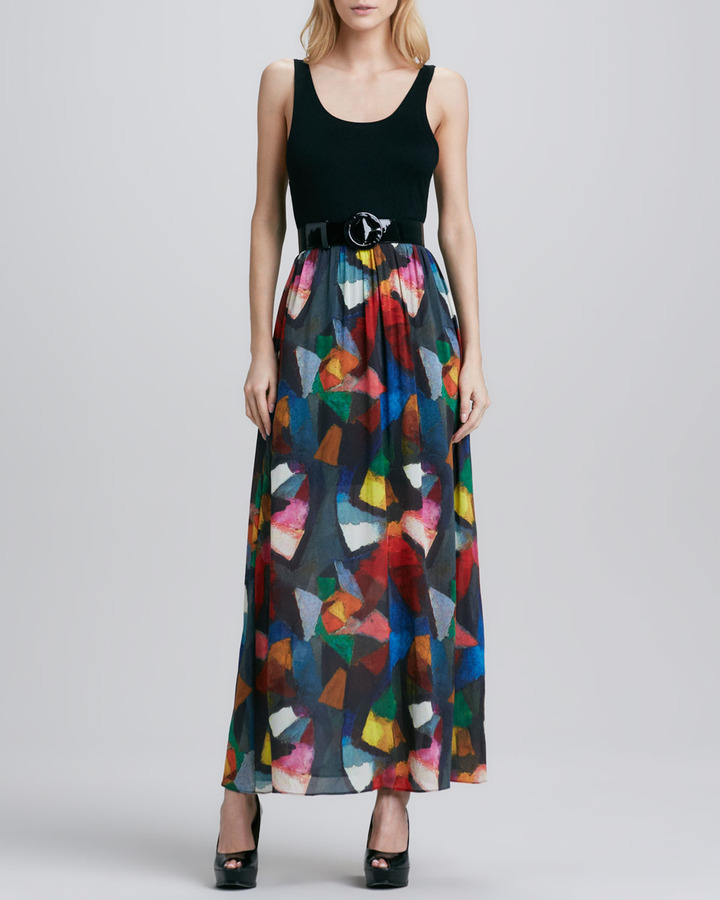 Alice + Olivia Kell Belted Maxi Dress