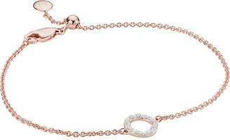 Monica Vinader Riva Mini Circle 18ct rose-gold vermeil and diamond bracelet