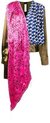 Marni patch-wrap blouse