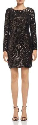 Aqua Sequin Scroll Mini Dress - 100% Exclusive