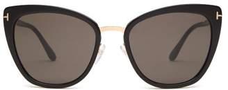 e47ff87b95dc Tom Ford Simona Cat Eye Acetate Sunglasses - Womens - Black