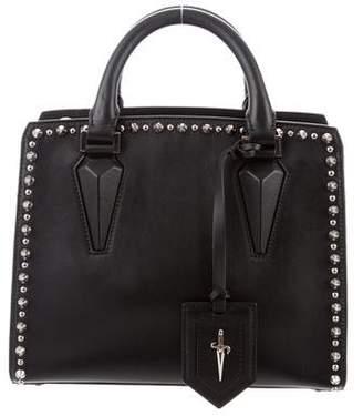 Cesare Paciotti Studded Leather Satchel