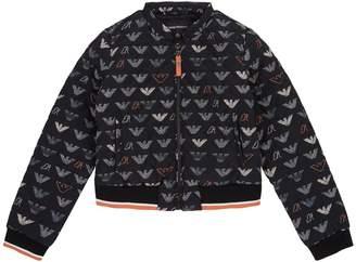 Giorgio Armani Eagle Print Bomber Jacket