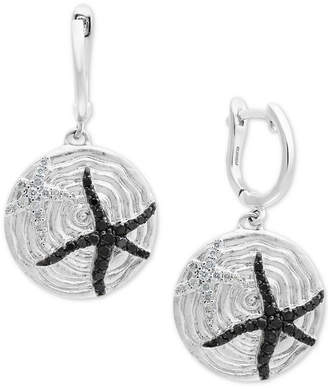 Effy Balissima by Diamond Starfish Drop Earrings (1/2 ct. t.w.) in Sterling Silver