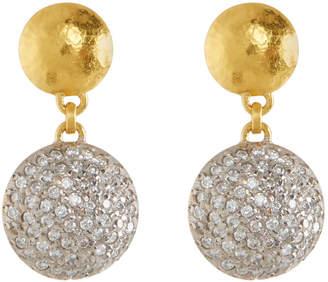 Gurhan 24k Lentil Pavé Black Diamond Dangle Earrings wJyInu