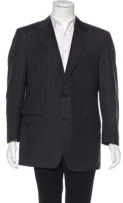 Canali Striped Virgin Wool Blazer