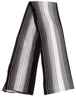 Missoni Patterned Striped Knit Scarf