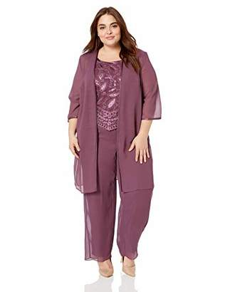 Le Bos Women's Plus Size Embellished Embroidered Pant Set