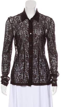 Dolce & Gabbana Lace Button-Up Top