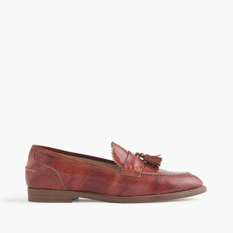 Biella crackled leather loafers $298 thestylecure.com