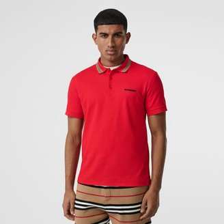 cc435ff271 Burberry Icon Stripe Detail Cotton Piqué Polo Shirt