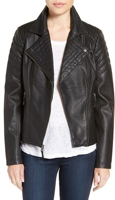 Jessica Simpson Quilted Faux Leather Jacket $150 thestylecure.com