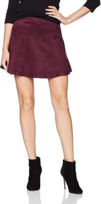 BB Dakota Women's Hal Faux Suede Scuba Skirt