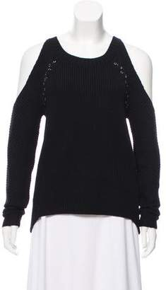 Ramy Brook Embellished Cold-Shoulder Sweater w/ Tags