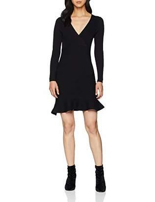 Yumi Women's Knit Dress Plain Long Sleeve Dress,(Manufacturer Size:M)