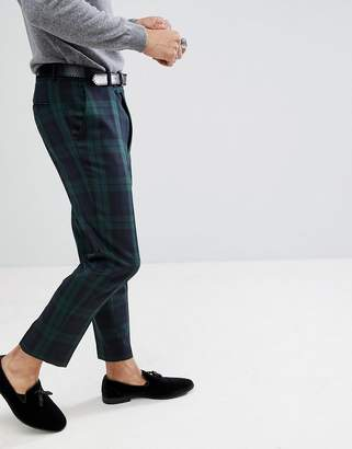 Asos Design DESIGN tapered smart pants in blackwatch tartan