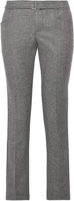 Simon Miller Hazen Houndstooth Wool-blend Straight-leg Pants