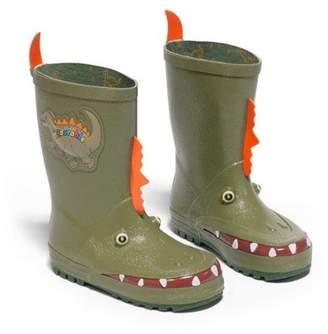 Kidorable Little Boys Green Dinosaur Spike Rubber Rain Boots 5-10 Toddler