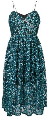 Self-Portrait sequined azalea dress