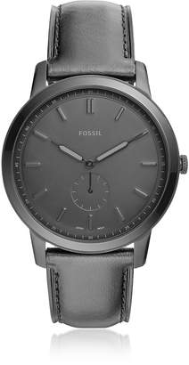 ee1fc933d Fossil The Minimalist Two-Hand Black Leather Men's Watch