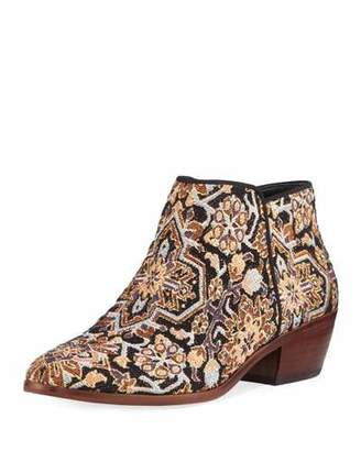 Sam Edelman Petty Low Tapestry Ankle Bootie