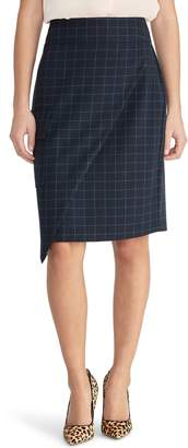 Rachel Roy Collection Asymmetrical Check Skirt