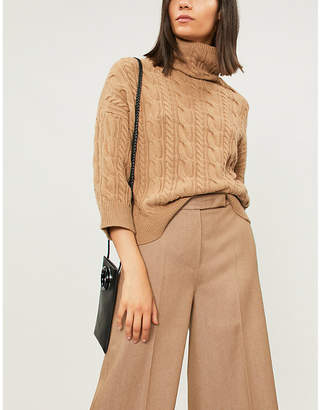 Max Mara Fungo cable-knit wool and cashmere-blend jumper