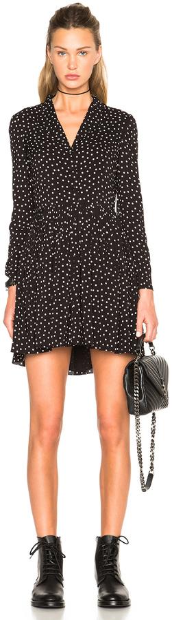 Saint LaurentSaint Laurent Bicolor Dot Shirt Dress