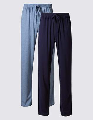 Marks and Spencer 2 Pack Jersey Long Pant Pyjama Bottoms