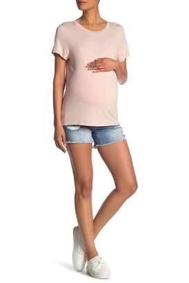 Seven7 Distressed Denim Shorts (Maternity)