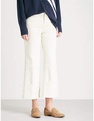 J Brand Joan wide-leg cropped high-rise jeans