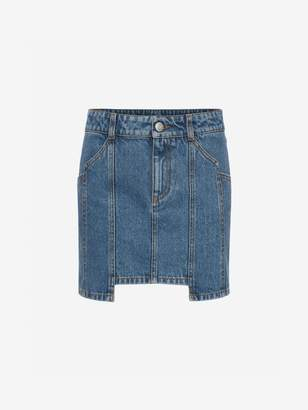 Alexander McQueen Denim Mini Skirt