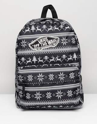 Vans Realm Vacation Backpack in Black