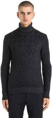 Tagliatore Wool Knit Turtleneck Sweater
