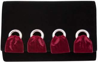 Giuseppe Zanotti Velvet Shoulder Bag