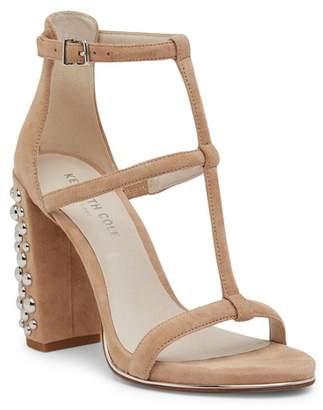 Kenneth Cole New York Deandra Embellished Heel Suede Sandal