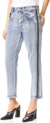 3.1 Phillip Lim Straight Jeans with Zipper $395 thestylecure.com