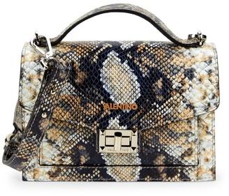 Call Of The Wild Valentino By Mario Valentino Titti Python-Embossed Leather Crossbody Bag