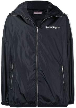 Palm Angels side stripes rain jacket