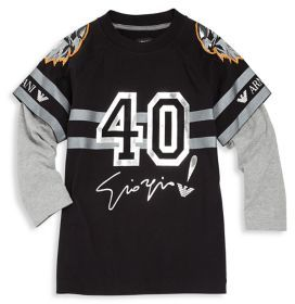 Armani Junior Armani Junior Little Boy's & Boy's Layered Graphic Tee