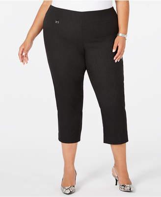 Alfani Plus Size Pull-On Slim-Leg Capris