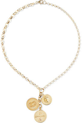 Foundrae - Karma, Strength And Dream 18-karat Gold Diamond Necklace