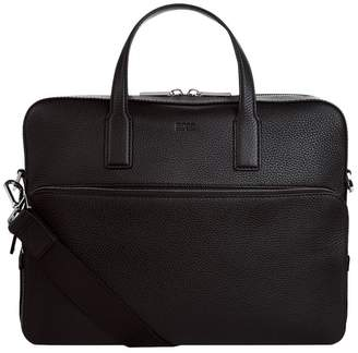 HUGO BOSS Leather Logo Briefcase